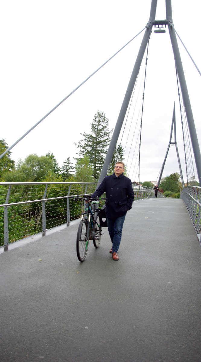 Frank-Tilo Becher unterwegs in Gießen